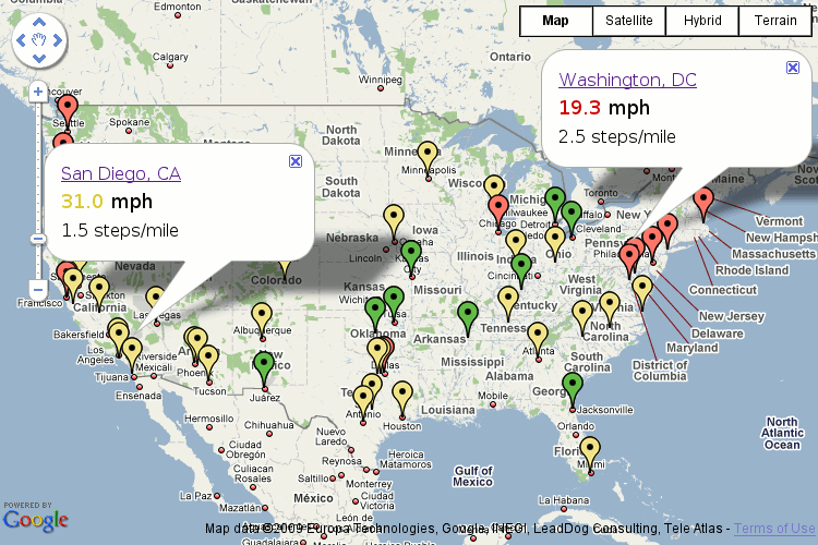 CitySpeed Road Network Efficiency Via Online Mapping CitySpeed - Map of largest cities in us